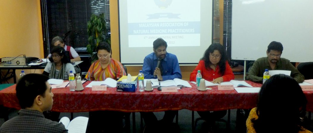The 4th Annual General Meeting of the Malaysian Association of Natural Medicine Practitioners